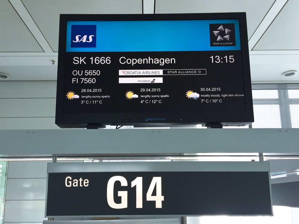 Abflug SAS Terminal 2 München