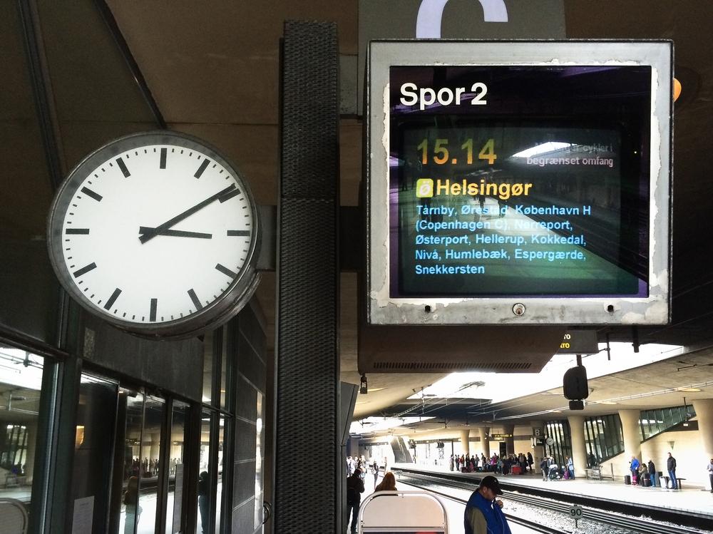Anzeige Display Kopenhagen Flughafen