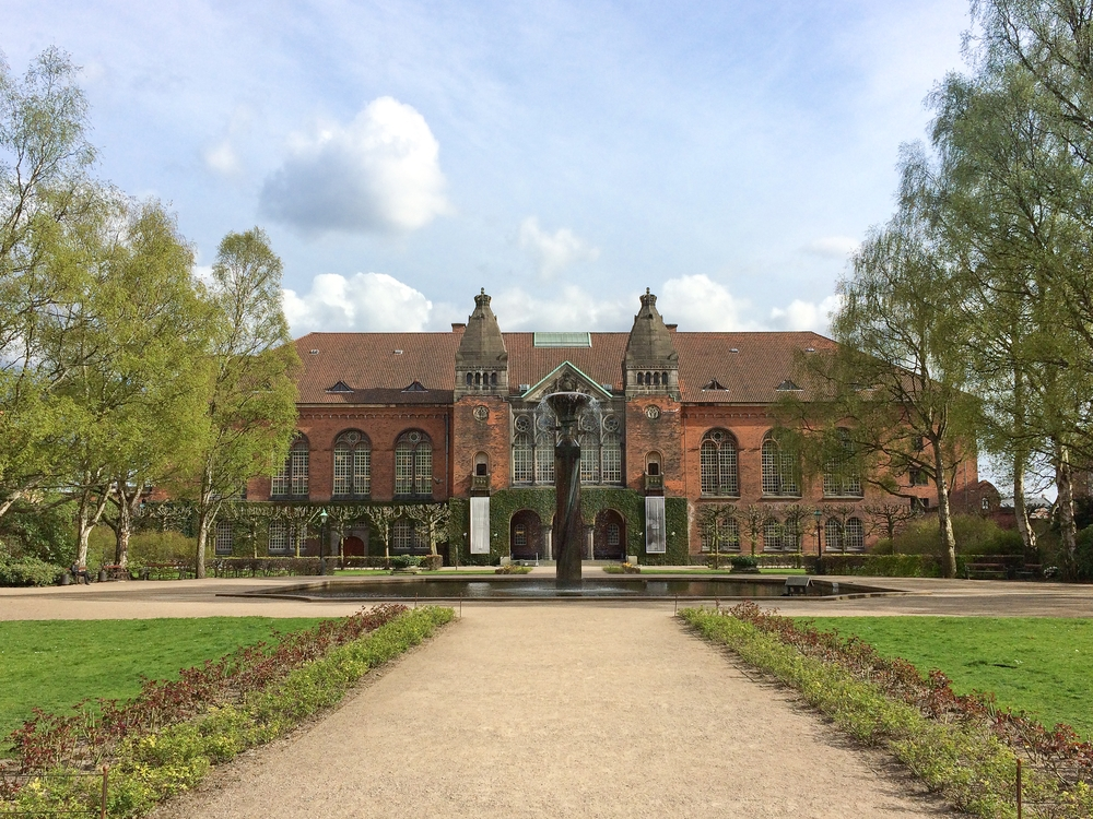 Dänisch Judisches Museum Kopenhagen Garten Königliche Bibliothek