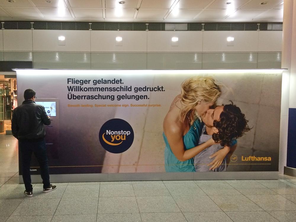 Lufthansa Willkommensschild Automat Terminal 2 Flughafen München