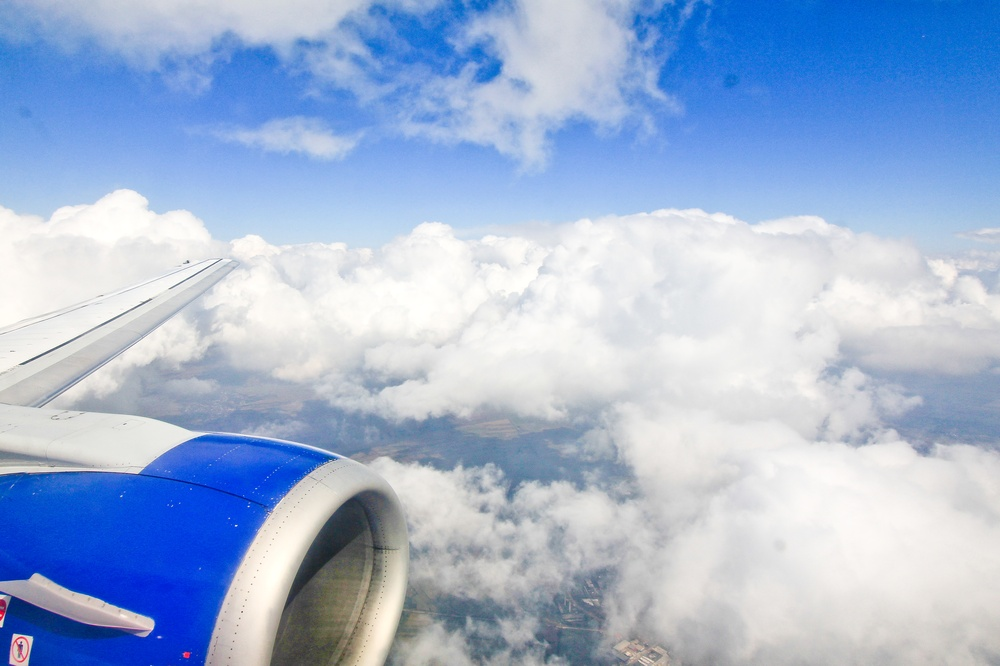 Landeanflug Bukarest Blue Air