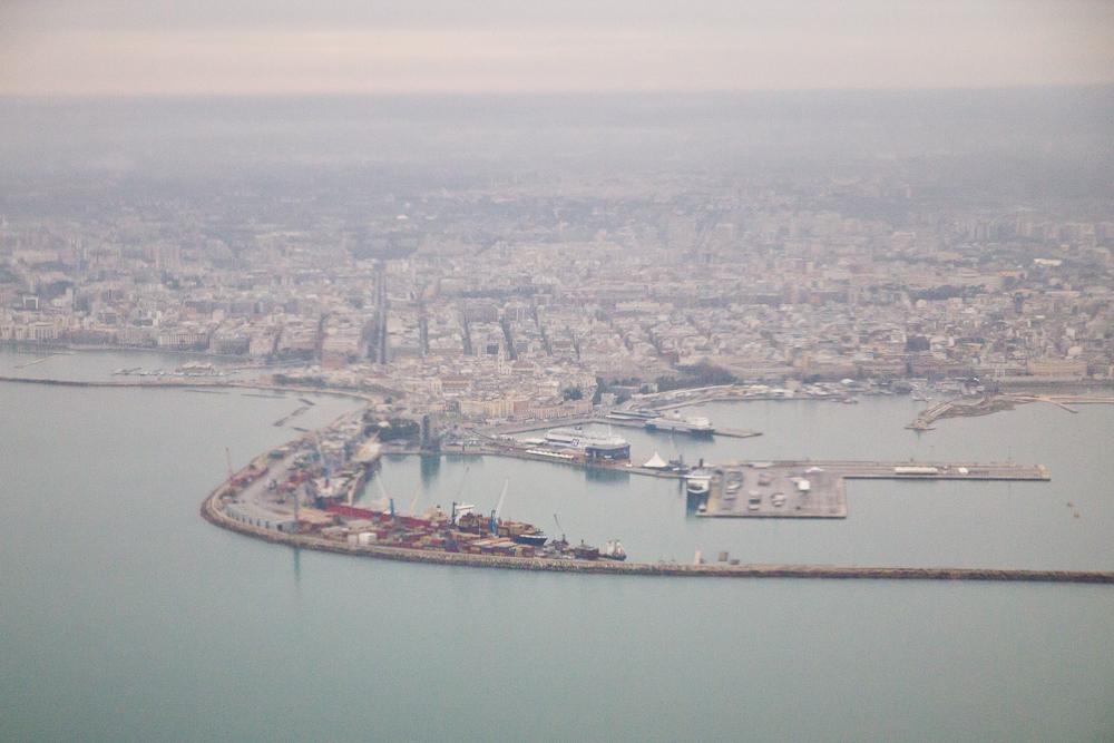 Hafen von Bari, Italien