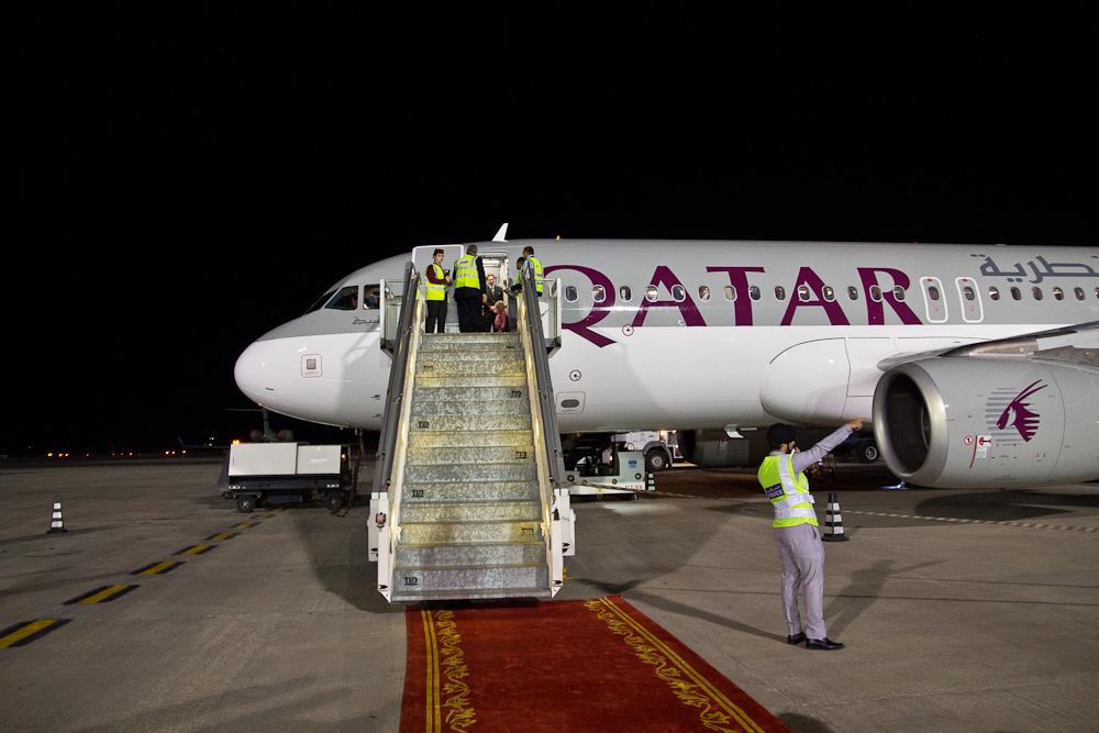 Qatar Airways Airbus A320 Doha Ras Al Khaimah