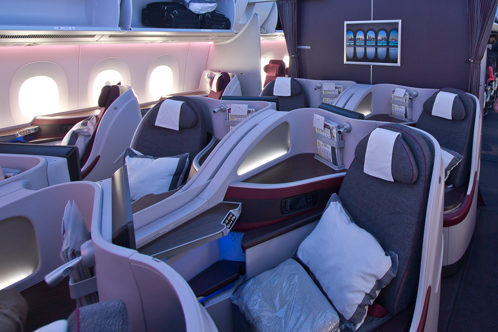 Lie Flat Business Qatar Airways Airbus A350