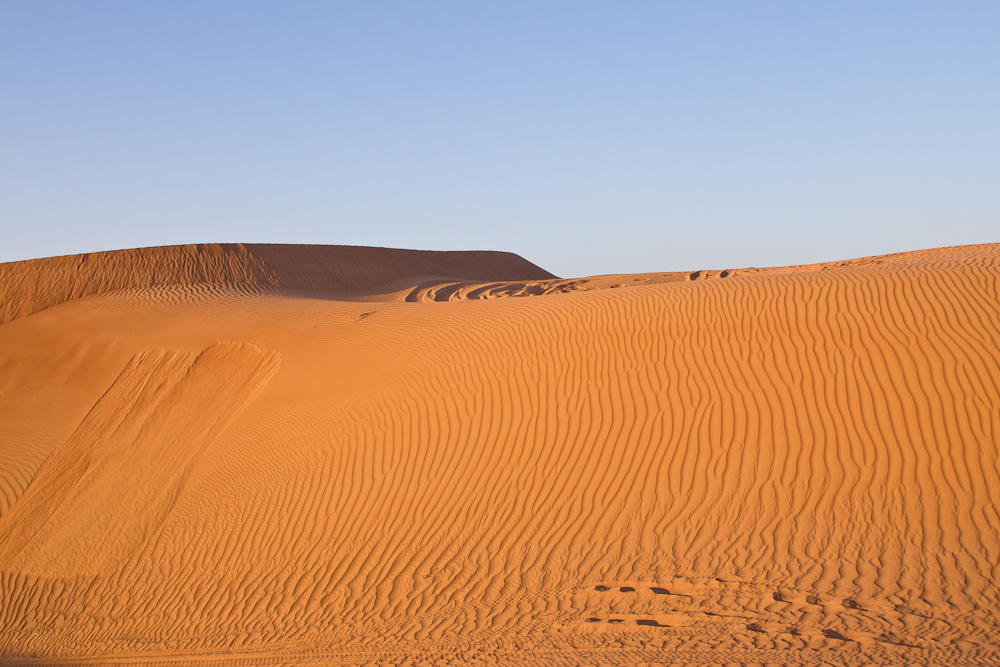 Spuren Sand Ras Al Khaimah