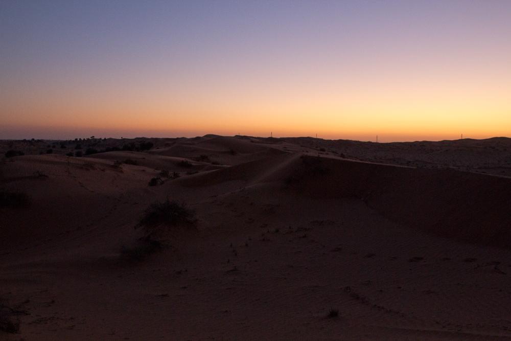 Sonnenuntergang Wüste Ras Al Khaimah