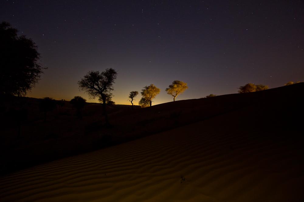 Nachtfoto Langzeitbelichtung Sterne Ras Al Khaimah