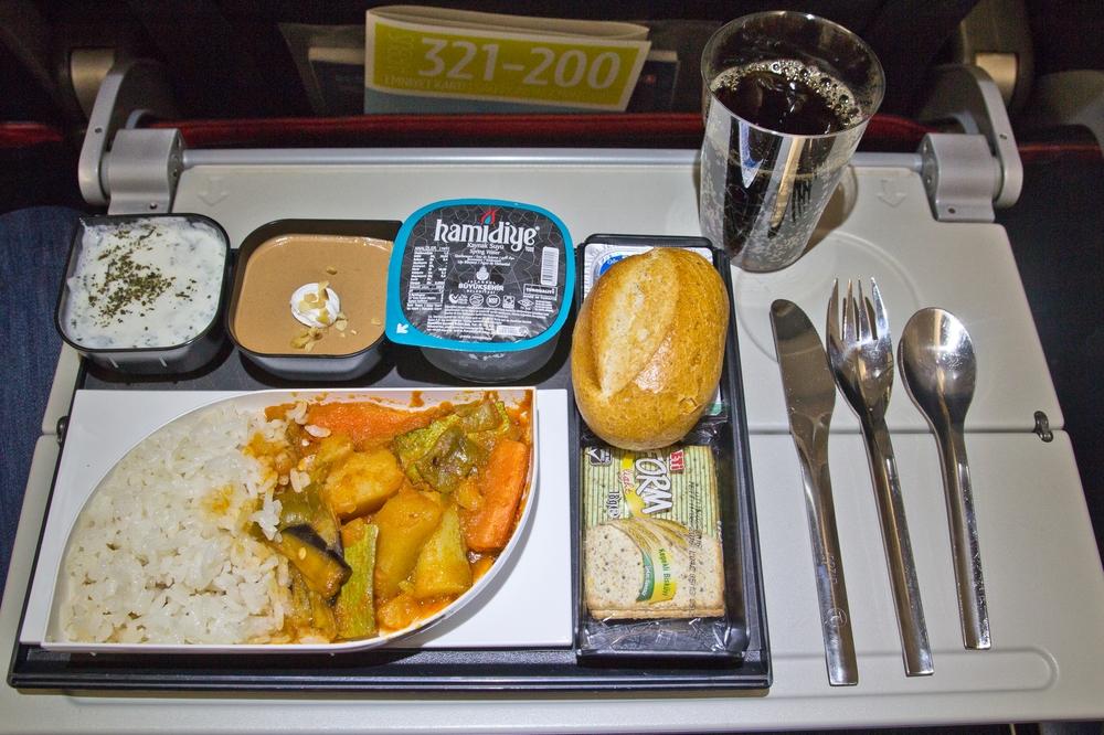 Turkish Airlines Flugzeug Essen