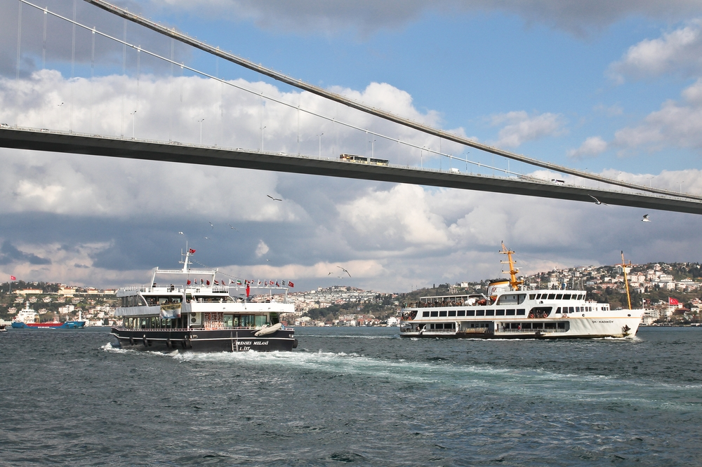 Bosporus Schiffe Schwarzes Meer Istanbul