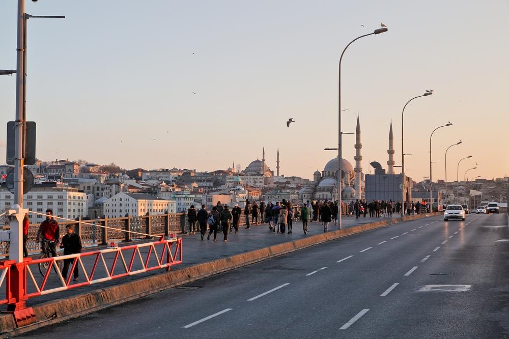 Goldene Horn Istanbul Galatabrücke