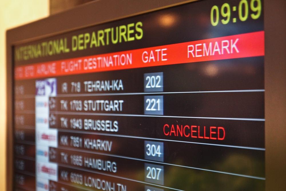 Flughafen Airport Brüssel Zaventem cancelled