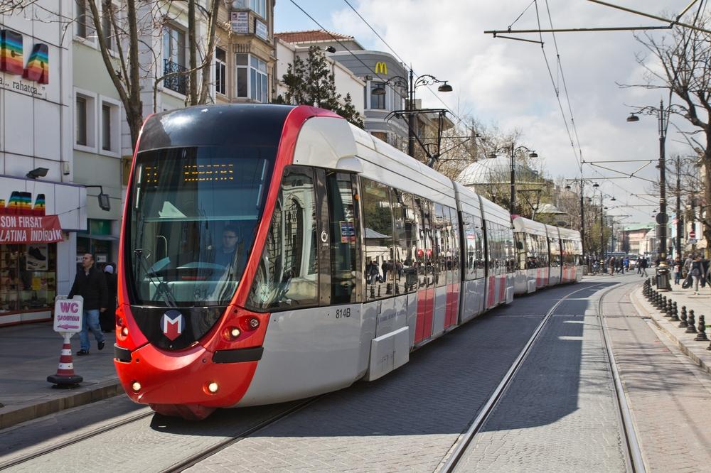 Tram Straßenbahn Istanbul Reise