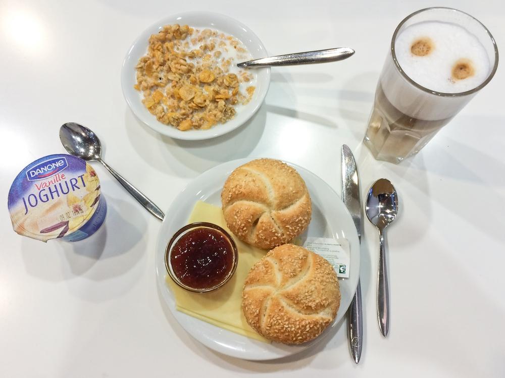 Breakfast Lufthansa Business Class Lounge Munich Airport Flughafen München