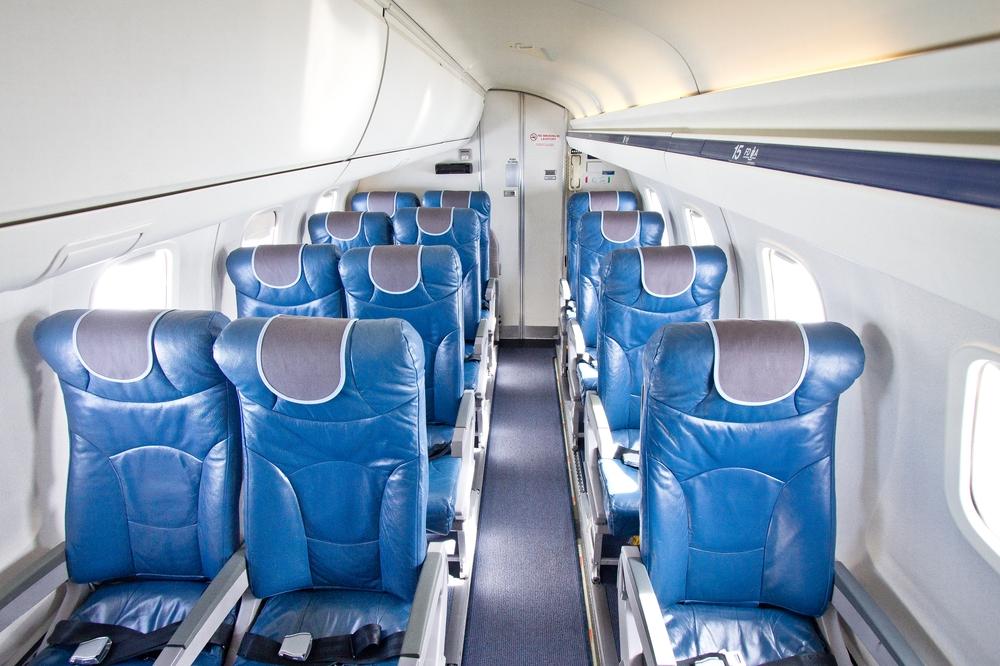 bmi regional Embraer ERJ 145 Cabin shot