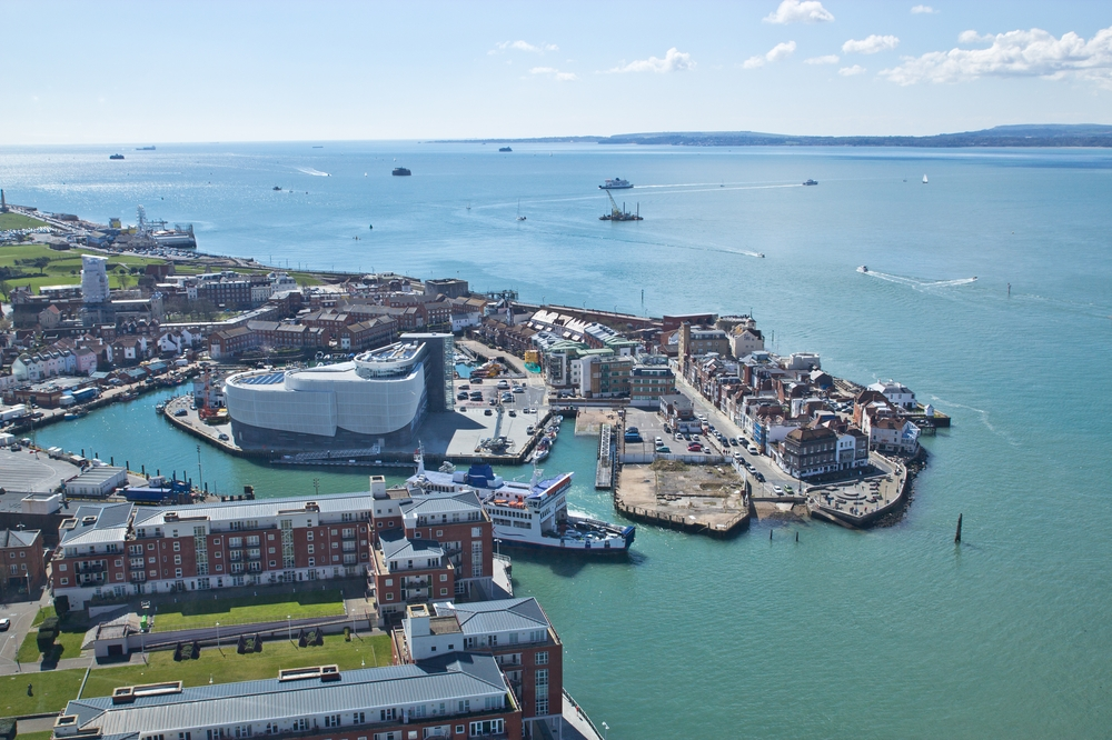View Isle of Wight from Spinnaker Tower Portsmouth