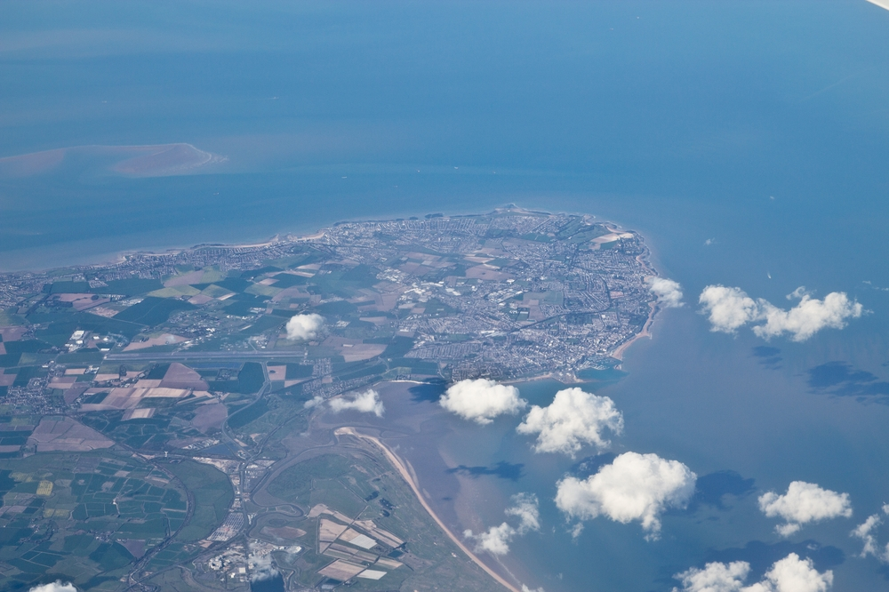 aerial view Isle of Thanet Ramsgate Broadstairs Margate