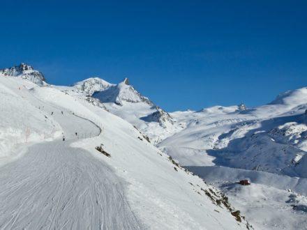 Zermatt Wallis Schweiz Ski Piste