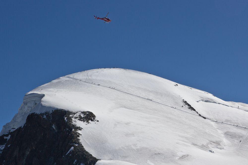 Breithorn Gipfel vom Klein Matterhorn