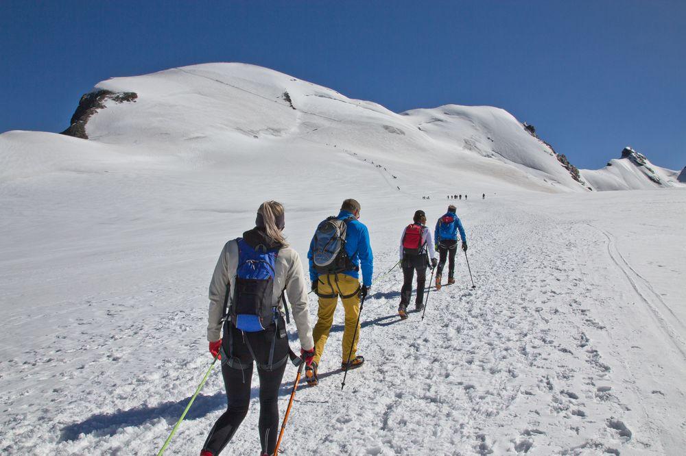 Seilschaft Klettern Breithorn