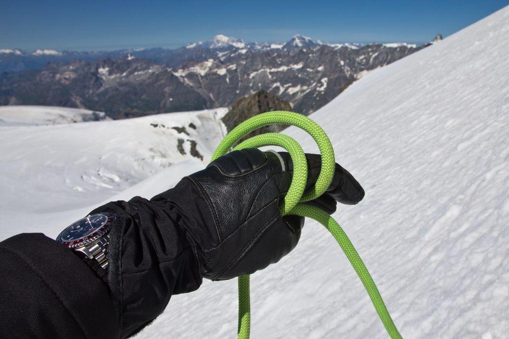 Seil Sicherung Gletscherspalten