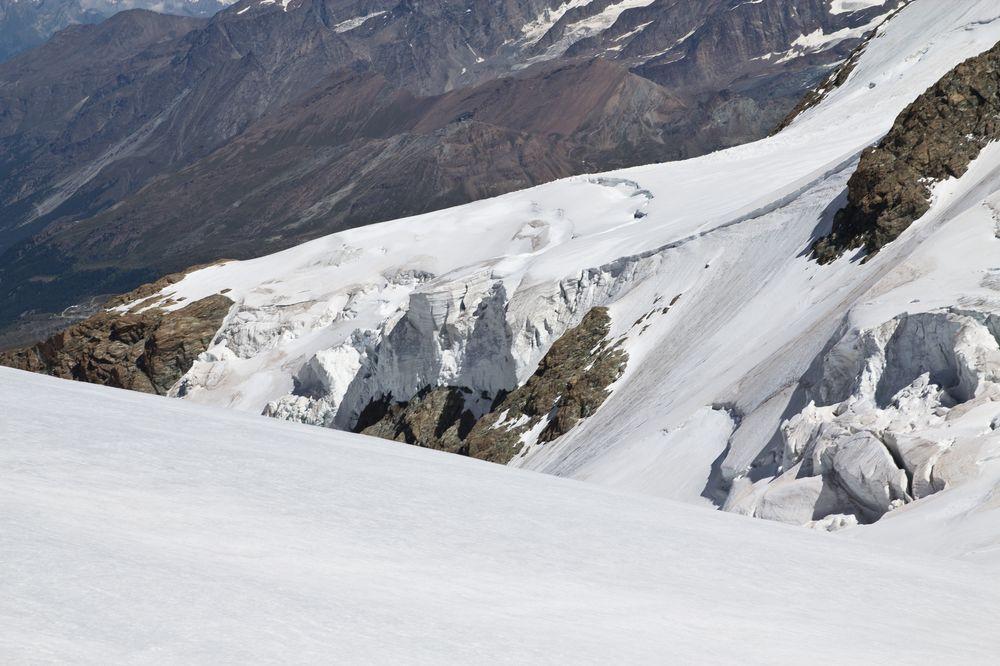 Gletscherspalten Klein Matterhorn