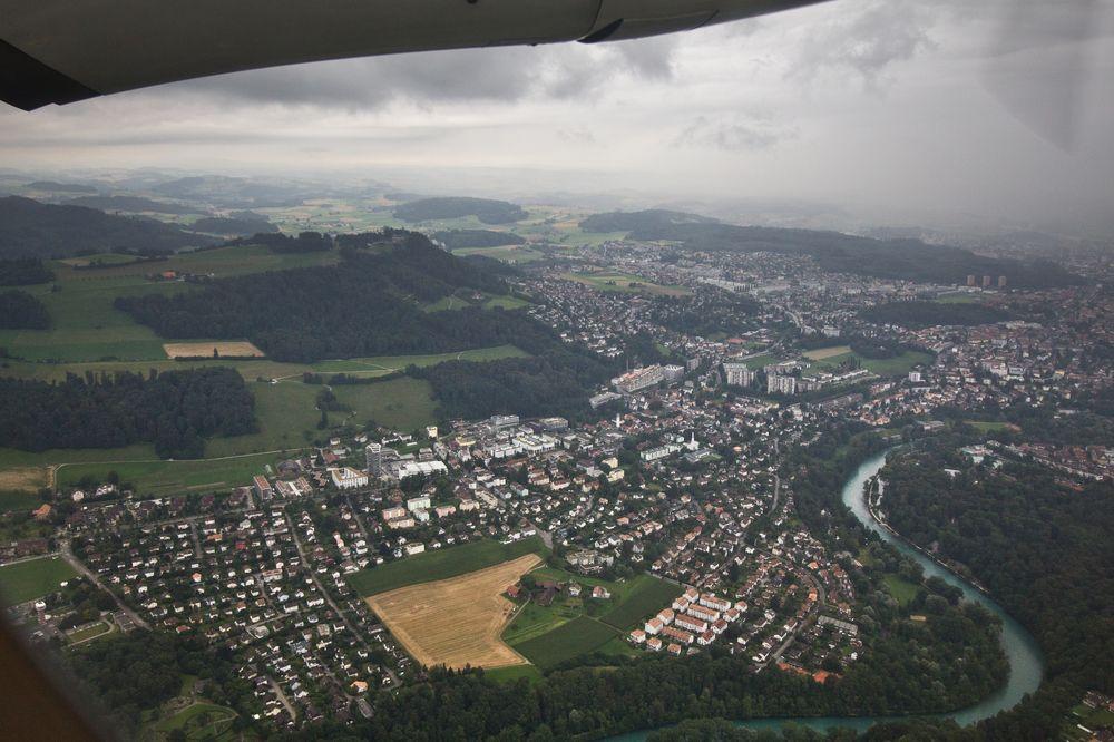 Bern Luftbild Aare