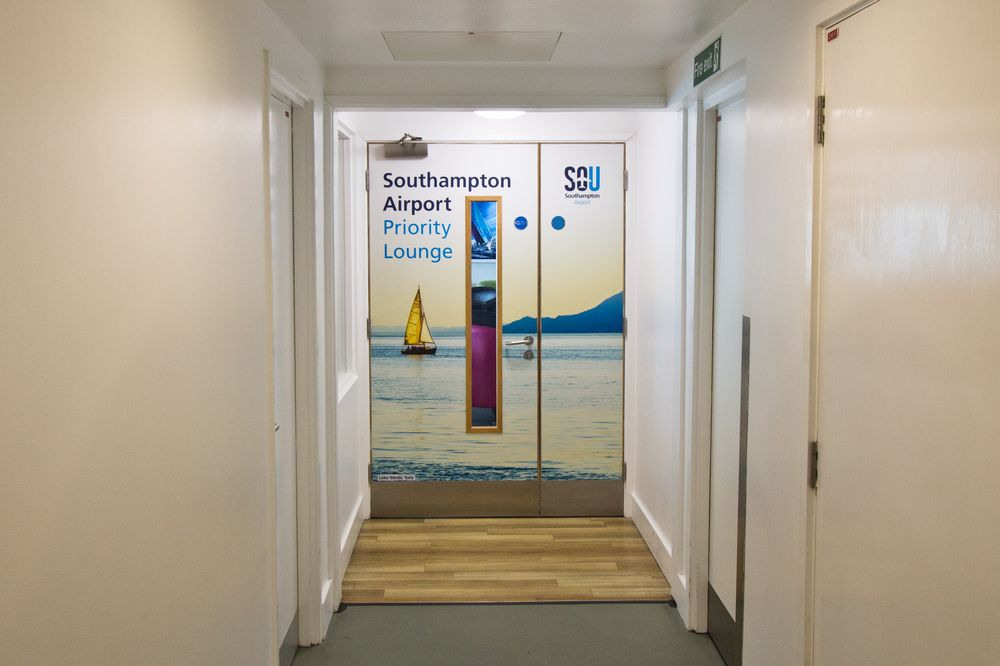 Airport Lounge Southampton Entry Door