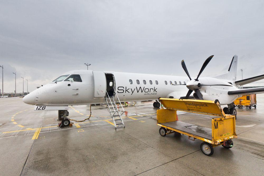 SkyWork Saab 2000 Flughafen München
