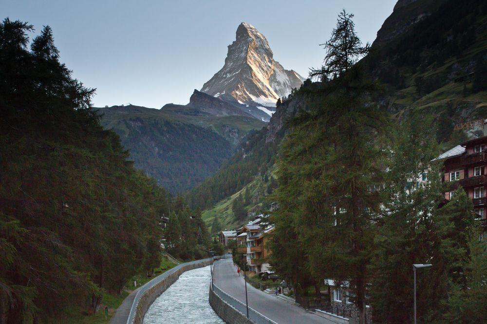 Matterhorn Sonnenuntergang Zermatt Matter Vispa