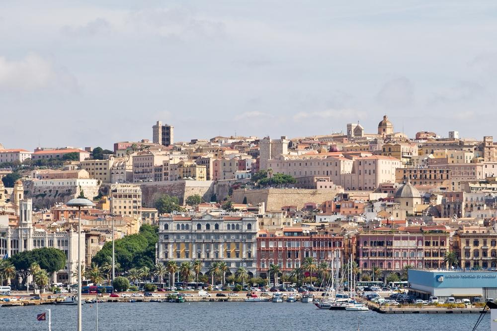 Cagliari Sardinien Waterfront Hafen