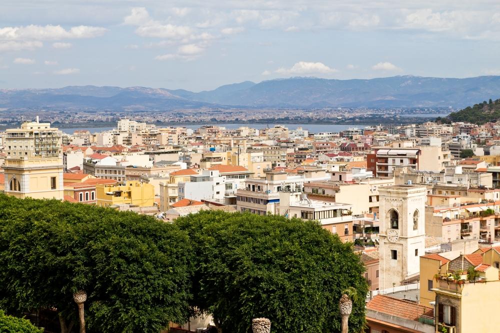 Cagliari Stagno di Molentargius Aussicht