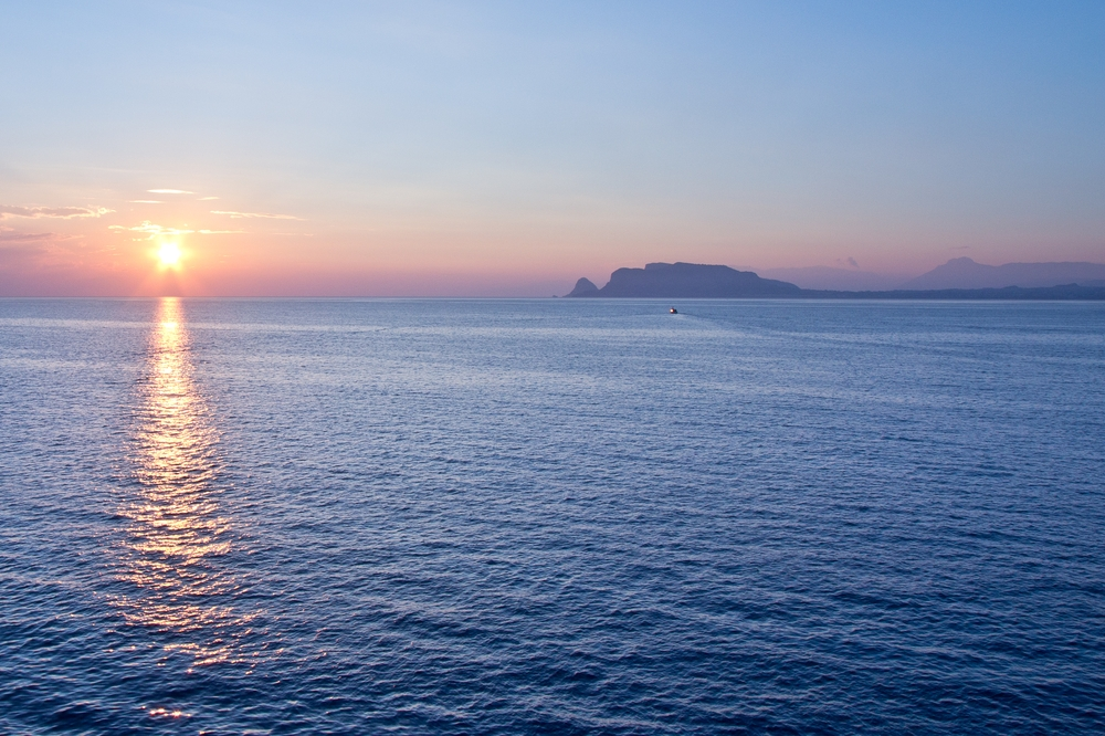 Sonnenaufgang Palermo MS Astor Kreuzfahrt