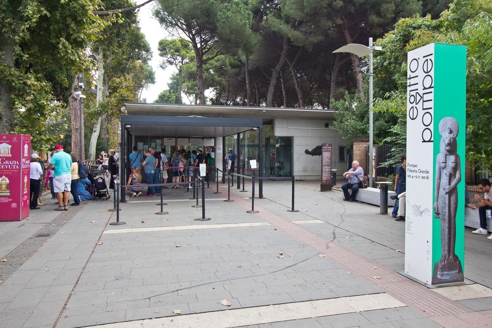 Eingang Ausgrabungsstätte Pompeji