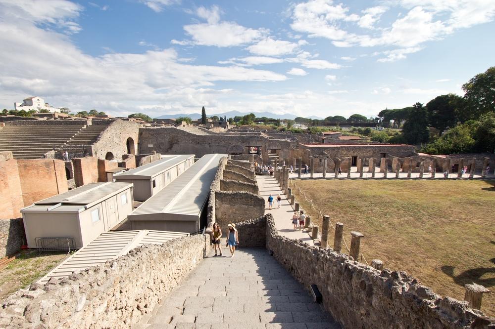 Pompeji Luftbild Übersicht