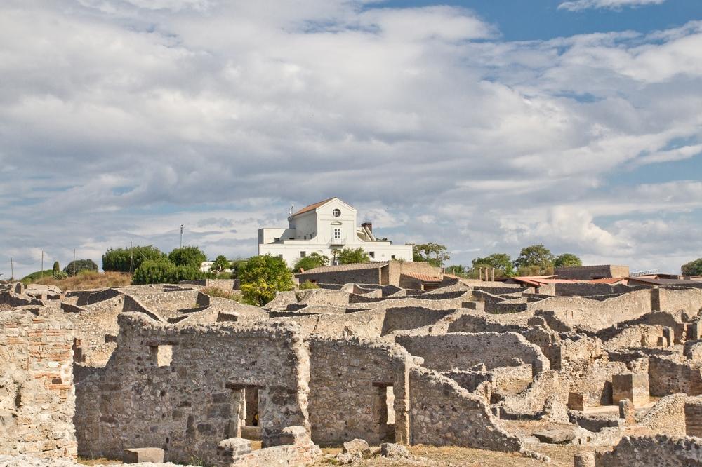 Pompeji verschüttetes Haus