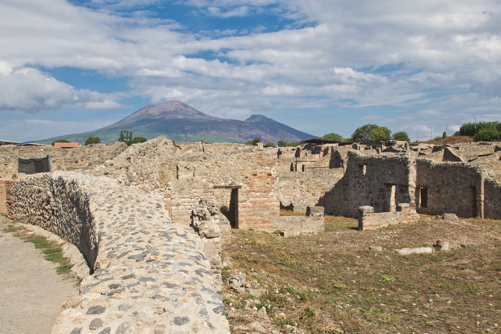 Vesuv über Pompeji