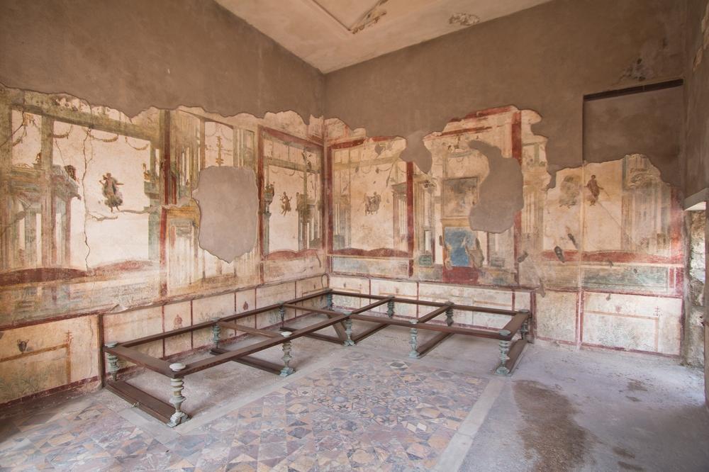 Pompeji Haus Innen restauriert
