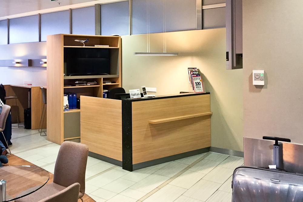 Business Lounge Flughafen Berlin Tegel Empfang