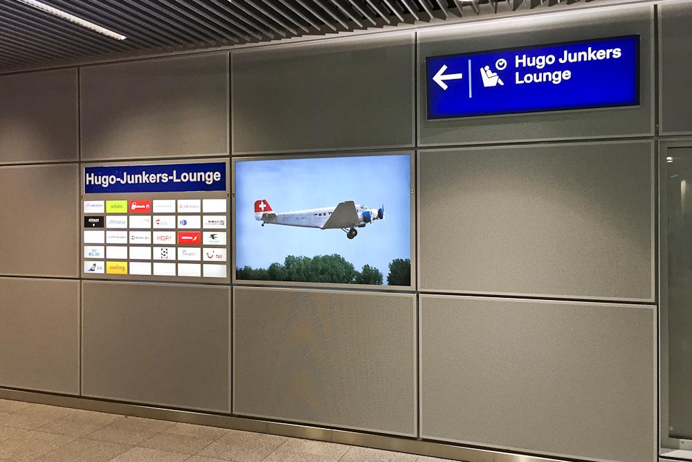 Eingang  Hugo Junkers Lounge Flughafen Düsseldorf