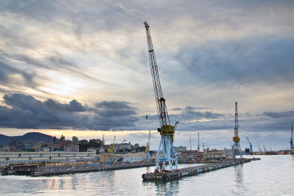 Hafen Genua Kreuzfahrt Sonnenaufgang