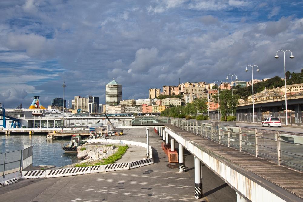 Genua Hafen Promenade Spaziergang