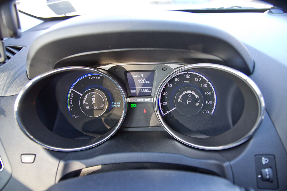 Tacho Hyundai ix35 FCEV BeeZero Carsharing