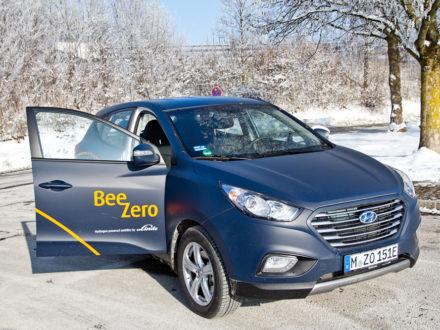BeeZero Carsharing Wasserstoff Linde