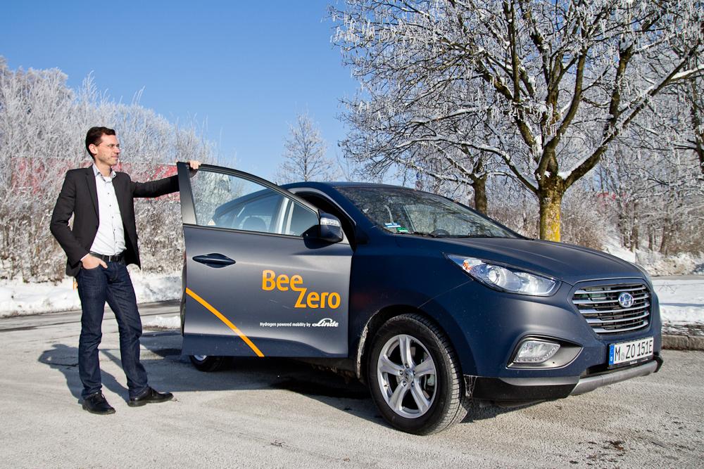 Erfahrungen Bericht BeeZero Carsharing Linde München