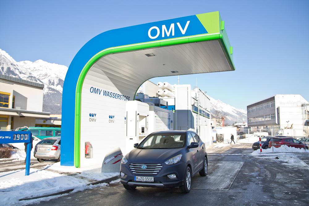 Wasserstoff Tankstelle Innsbruck Österreich