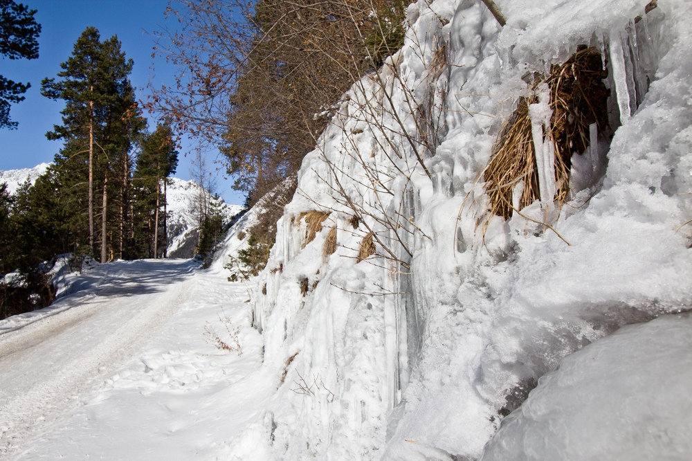 Eiszapfen Wanderung Weg Sölden