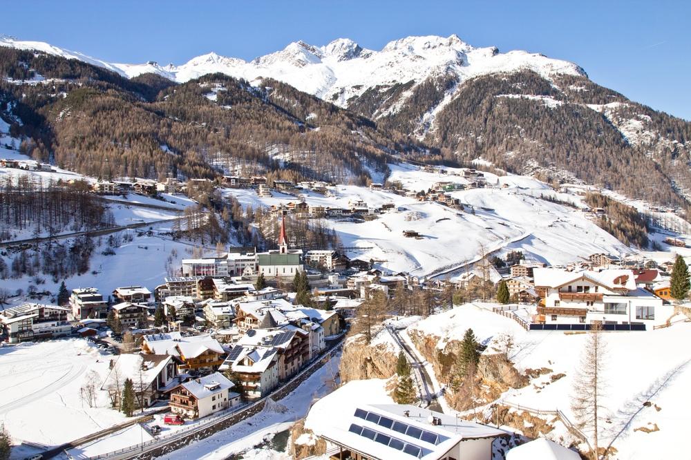 Sölden Panorama Luftbild