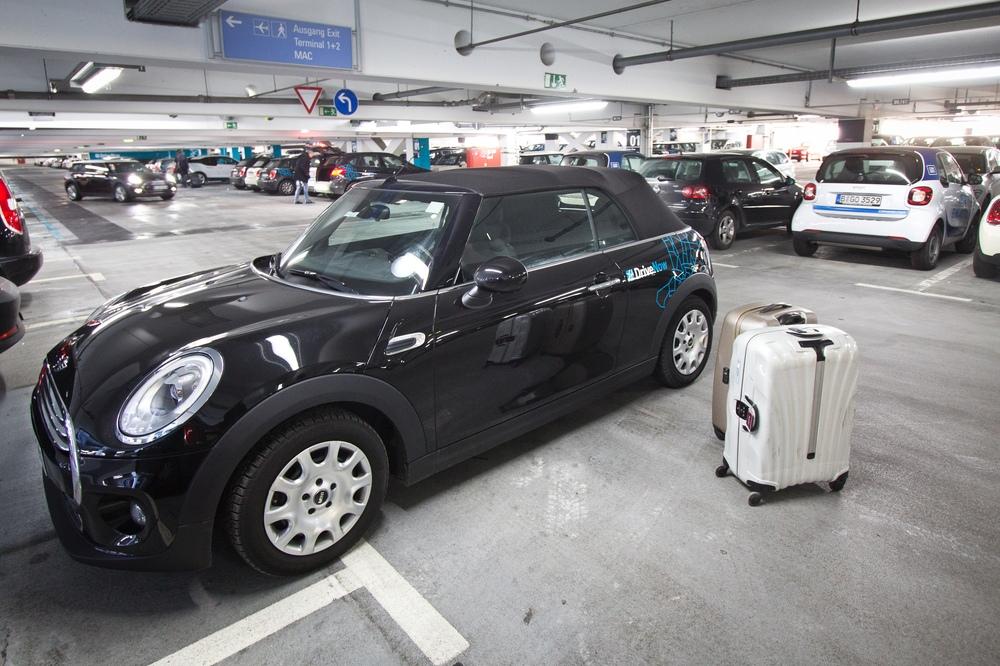 DriveNow Mini Carsharing Flughafen München