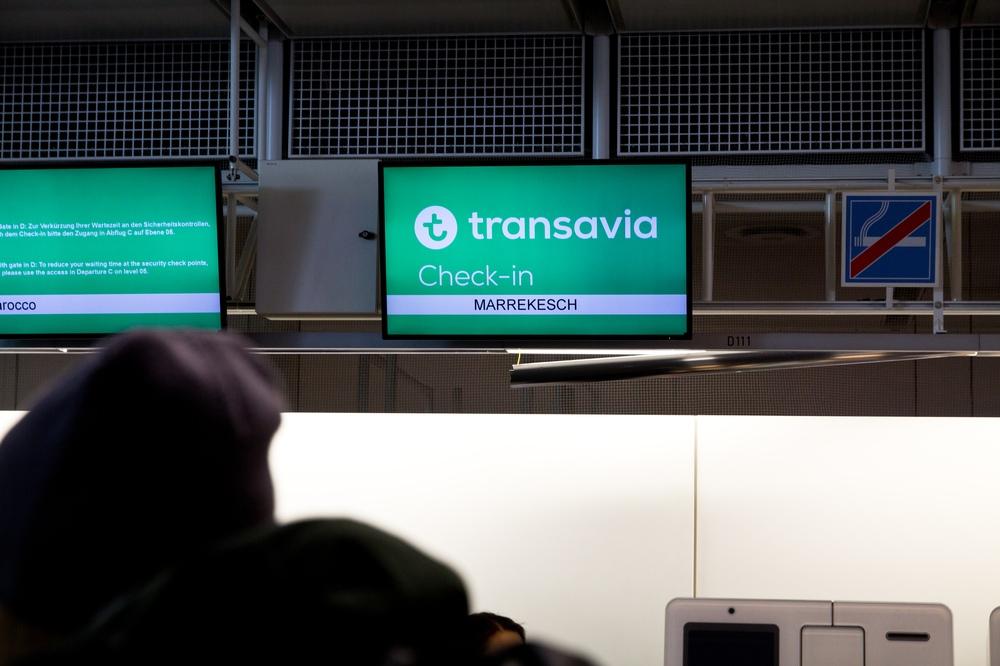 Transavia Checkin Flug Marokko Marrakesch