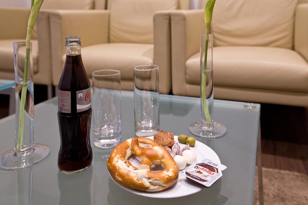 Flughafen München Atlantic Lounge Essen Trinken